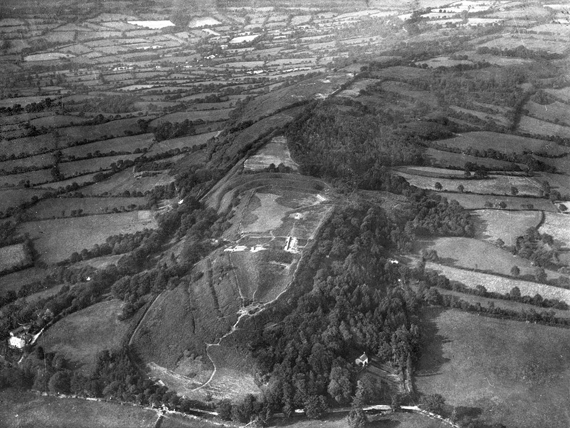 Aerial view of Hembury Fort