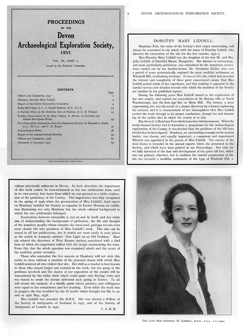 Obituary &amp portrait of Miss Dorothy Mary Liddell 1937