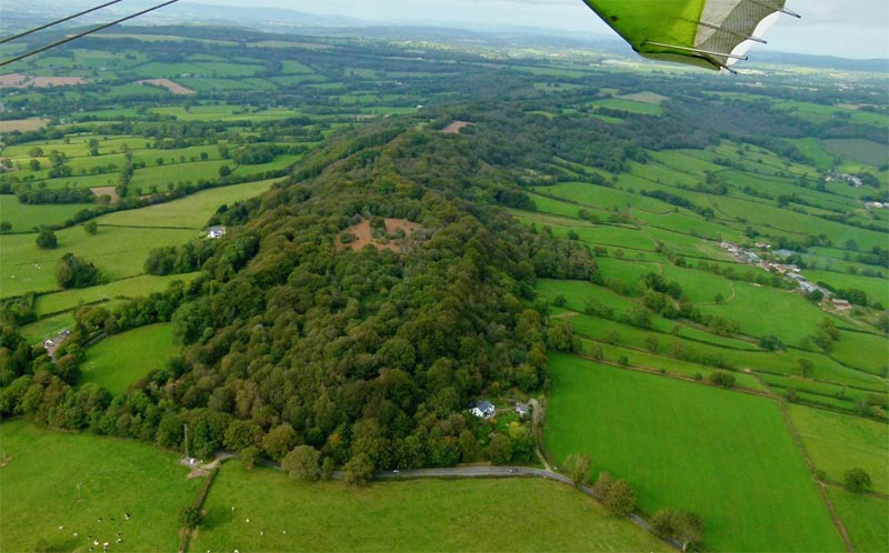 Aerial photo of Hembury Fort