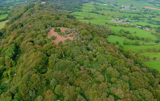 Hembury from above 2014